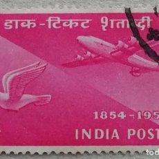 Sellos: 1954. INDIA. A-49. TRANSPORTES AÉREOS EN LA INDIA. SERIE COMPLETA. USADO.. Lote 253561980
