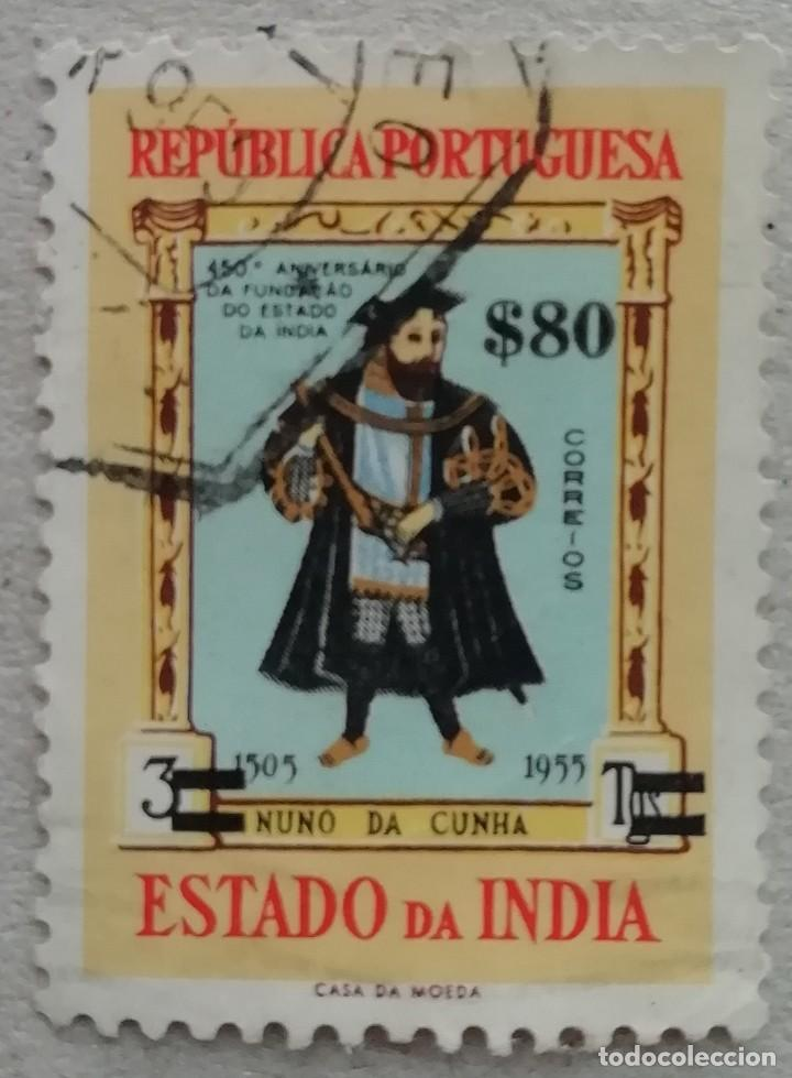 1959. INDIA-ESTADO DA INDIA. 508. 450 ANIV. FUNDACIÓN ESTADO DA INDIA (INDIA PORTUGUESA). USADO. (Sellos - Extranjero - Asia - India)