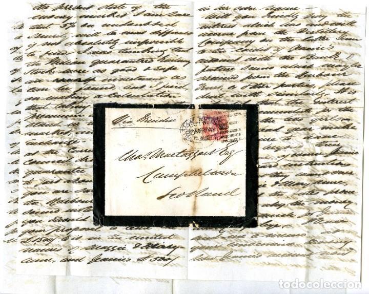 1875. BOMBAY A CAMPBELTOWN, ESCOCIA (GRAN BRETAÑA). 8 ANNAS ROJO. INDIA (Sellos - Extranjero - Asia - India)