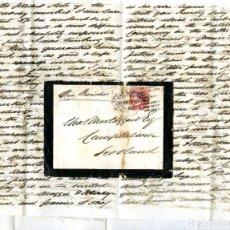 Sellos: 1875. BOMBAY A CAMPBELTOWN, ESCOCIA (GRAN BRETAÑA). 8 ANNAS ROJO. INDIA. Lote 254592520