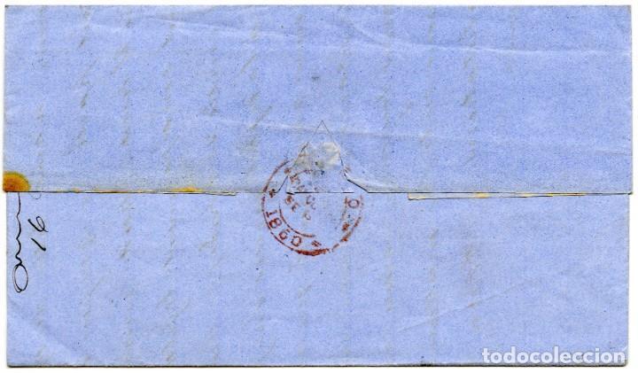 Sellos: 1860. Carta de Calcutta, India, a Marsella, Francia. Marca INDIA UNPAID y otras - Foto 2 - 254602610