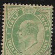 Francobolli: INDIA, COLONIA BRITÁNICA YVERT 74. Lote 258018715