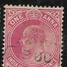 Francobolli: INDIA, COLONIA BRITÁNICA YVERT 75. Lote 258018815