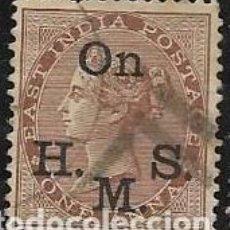 Francobolli: INDIA, COLONIA BRITÁNICA SERVICIOS YVERT 25. Lote 258024470