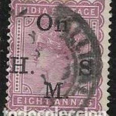 Francobolli: INDIA, COLONIA BRITÁNICA SERVICIOS YVERT 34. Lote 258025065