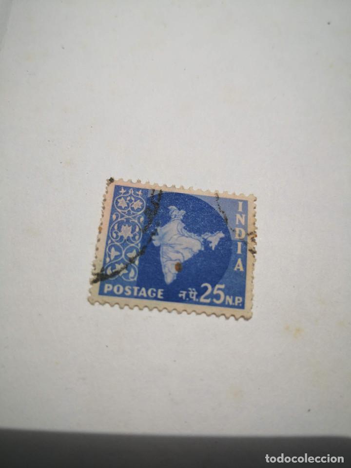SELLO POSTAGE 25NP INDIA (Sellos - Extranjero - Asia - India)