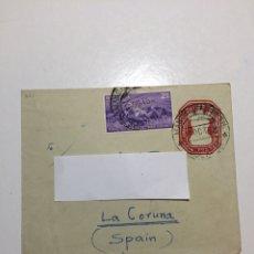 Sellos: CARTA SOBRE INDIA A CORUÑA 1953 EVEREST. Lote 263075565