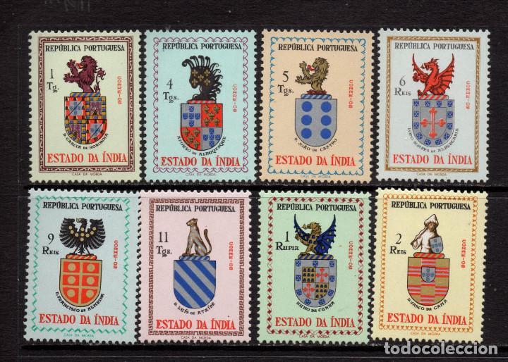 INDIA PORTUGUESA 493/500** - AÑO 1957 - BLASONES (Sellos - Extranjero - Asia - India)