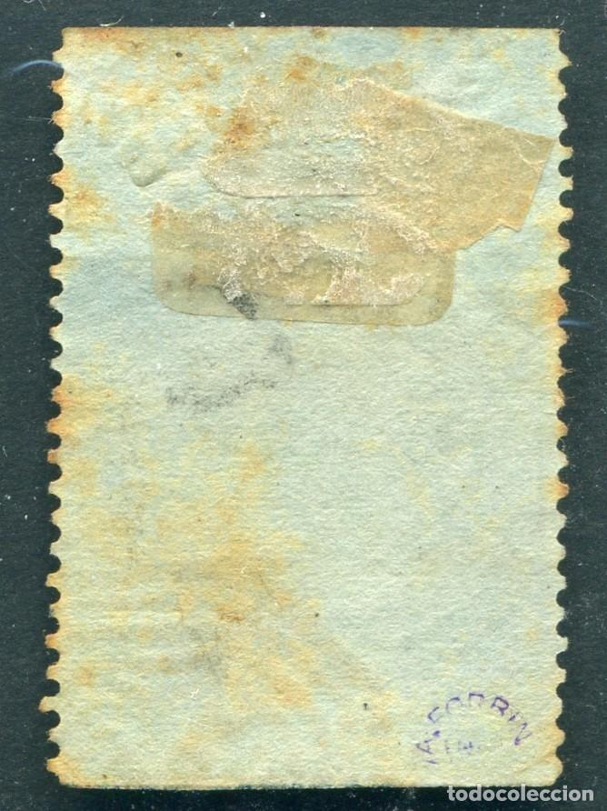 Sellos: India 1866 6d SG 66 Used QV stamped by A.FORBIN PARIS1905 (003099) - Foto 3 - 267624744