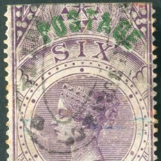 Sellos: INDIA 1866 6D SG 66 USED QV STAMPED BY A.FORBIN PARIS1905 (003099). Lote 267624744