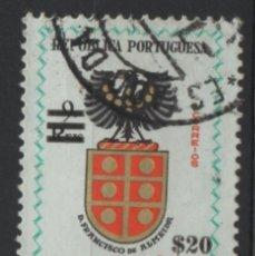 Sellos: INDIA PORTUGUESA 1959 BLAZON USADO * LEER DESCRIPCION. Lote 270377848