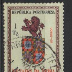 Sellos: INDIA PORTUGUESA 1958 BLAZON USADO * LEER DESCRIPCION. Lote 270378673