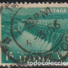 Sellos: INDIA 1955 SCOTT 257 SELLO º PLAN 5 AÑOS EMBALSE TILAIYA DAM (DAMODAR VALLEY) MICHEL 241 YVERT 57. Lote 270879118