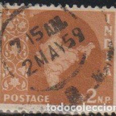 Sellos: INDIA 1957 SCOTT 276 SELLO º MAPA DE LA INDIA MAP MICHEL 260 YVERT 72 STAMPS TIMBRE INDE BRIEFMARKE. Lote 270879703
