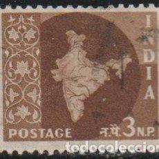 Sellos: INDIA 1957 SCOTT 277 SELLO º MAPA DE LA INDIA MAP MICHEL 261 YVERT 73 STAMPS TIMBRE INDE BRIEFMARKE. Lote 270879768