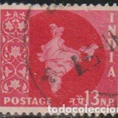 Sellos: INDIA 1957 SCOTT 282 SELLO º MAPA DE LA INDIA MAP MICHEL 266 YVERT 77 STAMPS TIMBRE INDE BRIEFMARKE. Lote 270880273