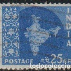 Sellos: INDIA 1957 SCOTT 285 SELLO º MAPA DE LA INDIA MAP MICHEL 269 YVERT 80 STAMPS TIMBRE INDE BRIEFMARKE. Lote 270880593
