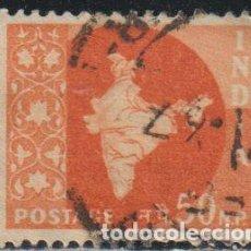 Sellos: INDIA 1957 SCOTT 286 SELLO º MAPA DE LA INDIA MAP MICHEL 270 YVERT 81 STAMPS TIMBRE INDE BRIEFMARKE. Lote 270881018