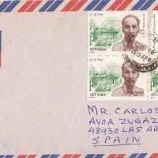 Sellos: CORREO AEREO: INDIA 1990. Lote 277214828
