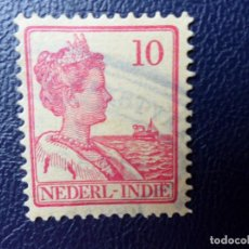 Sellos: INDIA HOLANDESA, 1913, WILHELMINE, YVERT 108. Lote 287214373