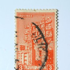 Sellos: SELLO POSTAL INDIA 1949, 3 ANNA, SANCHI STUPA, PUERTA ESTE, USADO. Lote 293670618