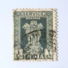 Sellos: SELLO POSTAL INDIA 1959, 1 NP, CAPITAL DEL PILAR DE ASOKA, USADO. Lote 293869898
