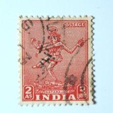 Sellos: SELLO POSTAL INDIA 1949, 2 ANNA, NATARAJA, USADO. Lote 293870488