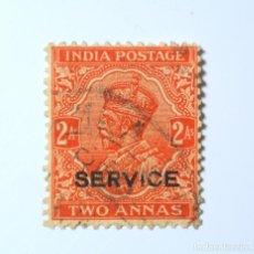 Sellos: SELLO POSTAL INDIA 1937, 1 ANNA, REY GEORGE V VISTIENDO LA CORONA IMPERIAL DE LA INDIA, USADO. Lote 293880108