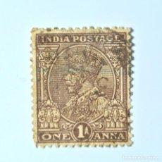 Sellos: SELLO POSTAL INDIA 1934, 1 ANNA, REY GEORGE V VISTIENDO LA CORONA IMPERIAL DE LA INDIA, USADO. Lote 293887743