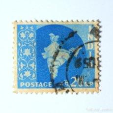 Sellos: SELLO POSTAL INDIA 1957, 20 NP, MAPA DE LA INDIA, USADO. Lote 294088583