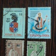 Sellos: LOTE DE 4 SELLOS INDIA PORTUGUESA. Lote 294092343