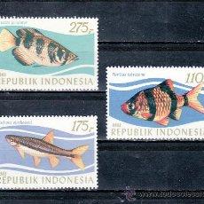 Sellos: INDONESIA 1005/7 SIN CHARNELA, FAUNA, PECES, . Lote 25225960