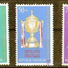 Sellos: INDONESIA AÑO 1964 MI 454/56* COPA THOMAS DE BADMINGTON - TROFEOS - DEPORTES. Lote 27787011