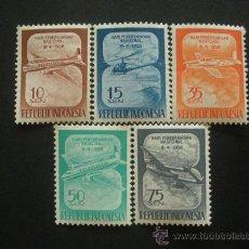 Sellos - Indonesia 1958 Ivert 156/60 * Día de la Aviación Nacional - Aviones - 30197094