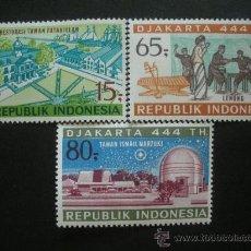 Sellos: INDONESIA 1971 IVERT 613/5 *** 444º ANIVERSARIO DE JAKARTA - MONUMENTOS . Lote 36392004
