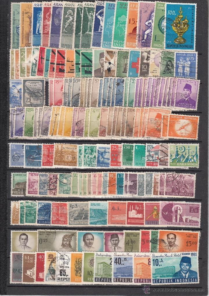 .LOTE INDONESIA DE 427 SELLOS, DIVERSAS CALIDADES, + FOTO (Sellos - Extranjero - Asia - Indonesia)