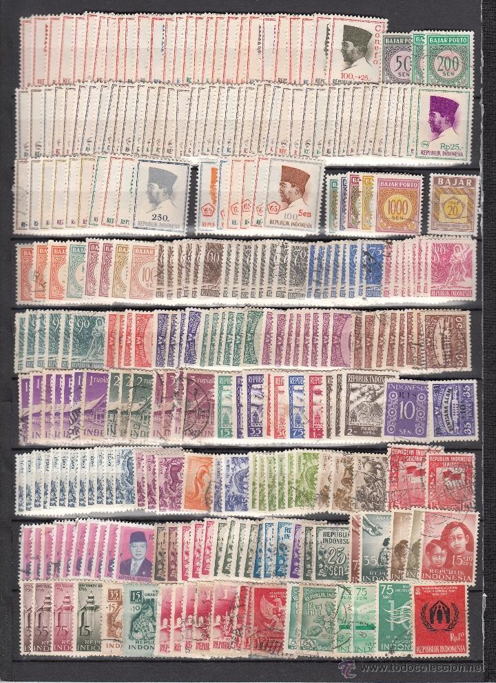 Sellos: .lote indonesia de 427 sellos, diversas calidades, + foto - Foto 2 - 41578056