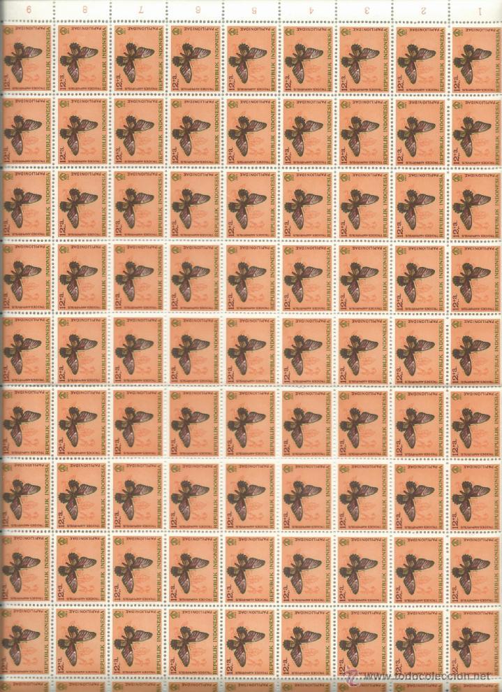 Sellos: 100 SERIES PERFECTAS Y NUEVAS EN PLIEGOS DE LA REPUBLICA DE INDONESIA TEMATICA MARIPOSAS - Foto 2 - 73516395