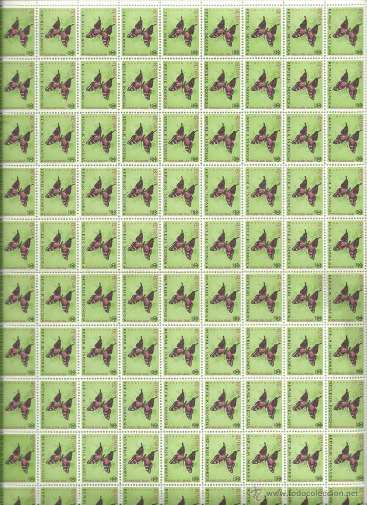 Sellos: 100 SERIES PERFECTAS Y NUEVAS EN PLIEGOS DE LA REPUBLICA DE INDONESIA TEMATICA MARIPOSAS - Foto 3 - 73516395