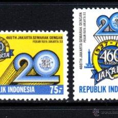 Sellos: INDONESIA 1119/20** - AÑO 1987 - 460º ANIVERSARIO DE LA CIUDAD DE YAKARTA. Lote 48428423