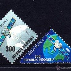 Sellos: INDONESIA 1438/39** - AÑO 1996 - CONQUISTA DEL ESPACIO - LANZAMIENTO DEL SATELITE PAPALA C. Lote 48428552