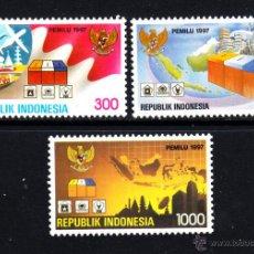 Sellos: INDONESIA 1509/11** - AÑO 1997 - ELECCIONES GENERALES. Lote 48507970