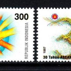 Sellos: INDONESIA 1531/32** - AÑO 1997 - 30º ANIVERSARIO DE A.S.E.A.N.. Lote 48507996