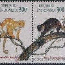 Sellos: INDONESIA 1996 FAUNA MONOS NUEVO PAREJA MNH *** SC. Lote 209140483