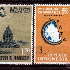 Sellos: INDONESIA 1963, SERIE. 12 CONFERENCIA DE VIAJES POR EL PACIFICO,JAKARTA **.MNH.. Lote 52283691