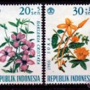 Sellos: INDONESIA 1966. SERIE. FLORES. **,MNH. Lote 52283699
