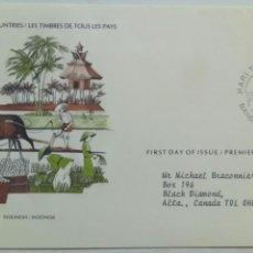 Sellos: INDONESIA SOBRE PRIMER DÍA AGRICULTURA. Lote 74621133