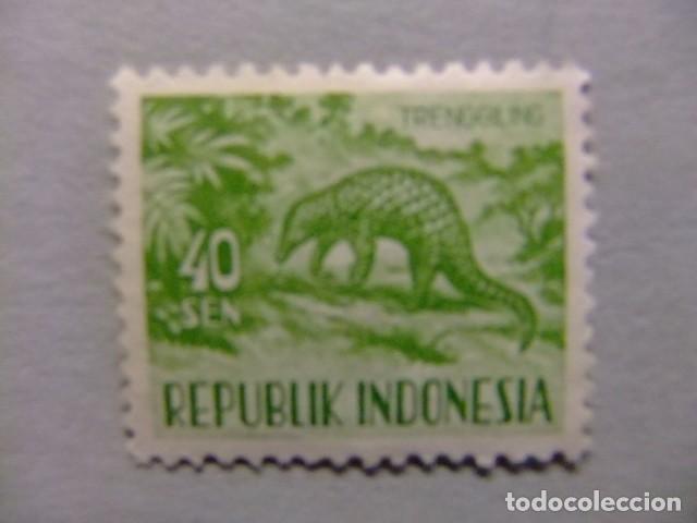 INDONESIA INDONÉSIE 1956 - 58 FAUNA FAUNE YVERT 123 º FU (Sellos - Extranjero - Asia - Indonesia)