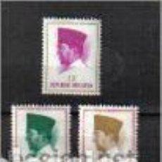 Sellos - sukarno,ahmed (presidente), indonesia. sellos año 1963/4 - 80886971