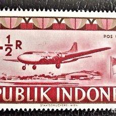 Sellos: INDONESIA . AVIÓN EN PISTA. VALOR: 4 1/2 R. 1949. SELLOS NUEVOS IMPRESOS EN VIENA.. Lote 89374176